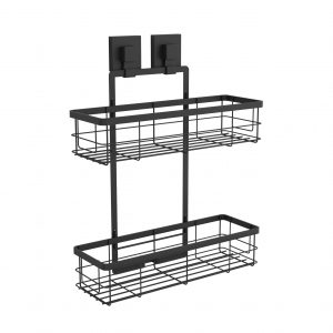 Matte Black Large Double Shower Caddy