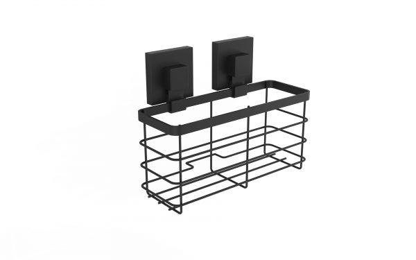 Matte Black Suction Shower Caddy