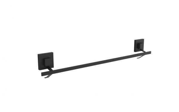 60cm Suction Towel Rail Matte Black